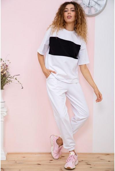 Спорт костюм женский  цвет бело-черный 181R012 66652
