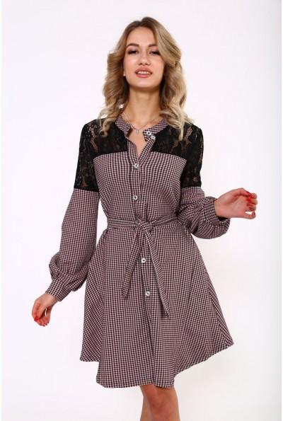 Платье женское 112R463 цвет Черно-розовый