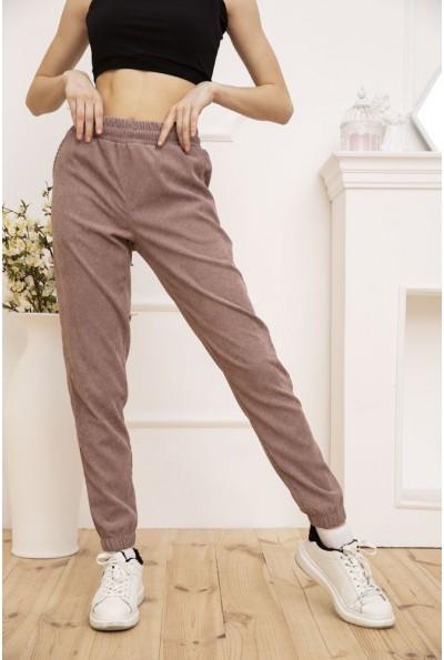Женские вельветовые штаны пудрового цвета 102R176 52880