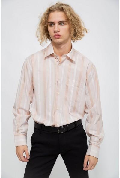 Рубашка мужская 113R288 цвет Бежевый 40284