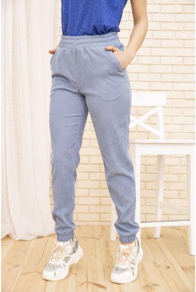 Женские вельветовые штаны голубого цвета 102R176 52878