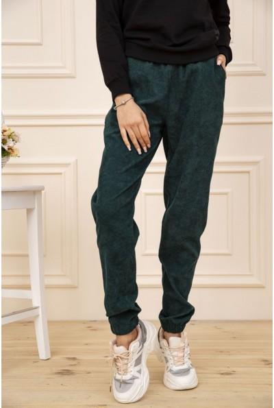 Штаны вельветовые женские с карманами цвет Зеленый 102R176 51188