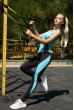 Спорт костюм женский  цвет черно-голубой 102R075 продажа