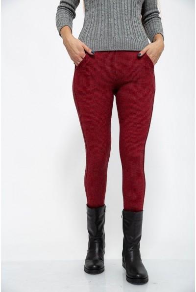 Брюки женские 117R048 цвет Красно-черный