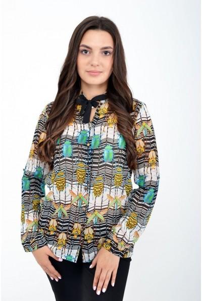 Блуза женская 115R041 цвет Черный