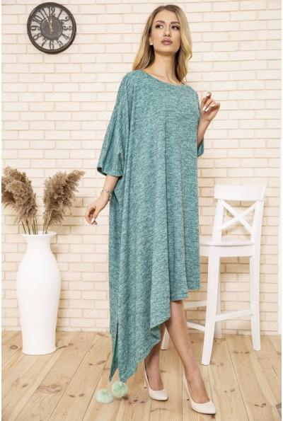 Платье свободного кроя большой размер цвет Голубой 167R1679