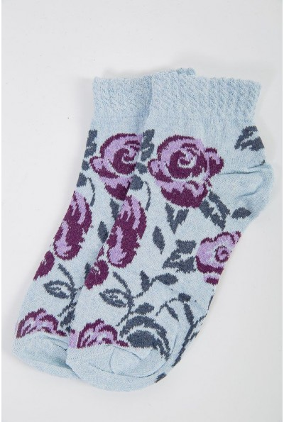 Носки женские 151R022 цвет Фиолетово-голубой 41249