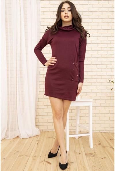 Платье женское мини цвет Сливовый 102R179
