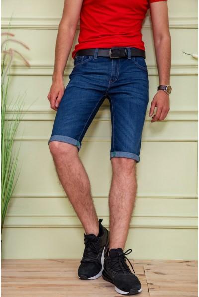 Темно-синие мужские джинсовые шорты 129R1953 58184
