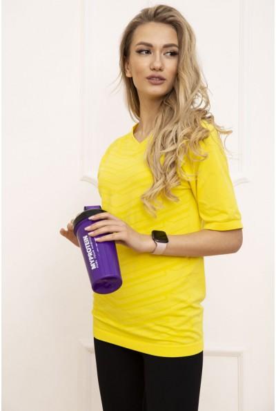 Футболка спортивная женская 117R123 цвет Желтый