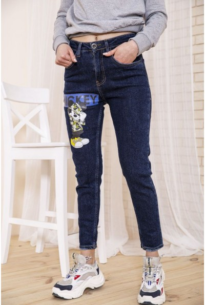 Женские темно-синие джинсы с Микки Маусом 164R1024-1