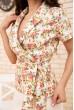 Женский костюм жакет с коротким рукавом и юбка Белый 167R1641 продажа