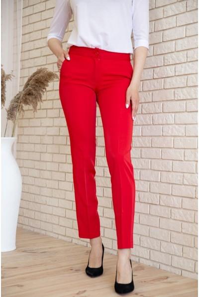 Брюки женские 167R1607 цвет Красный 53952