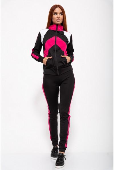 Спорт костюм женский 131R80361 цвет Черно-малиновый