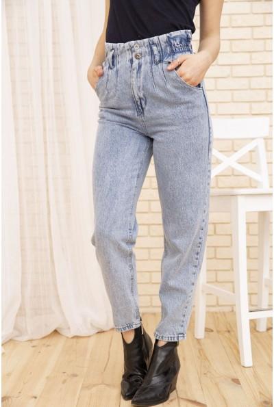 Голубые женские джинсы Paperbag на резинке 154R16943 52613