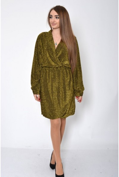 Платье женское 115R362 цвет Золотистый