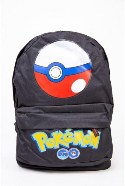 Рюкзак Pokemon Go Pokeball Покебол цвет Черный 154R003-41-1