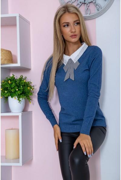 Свитер женский  нарядный  цвет джинс 131R116-1 67353