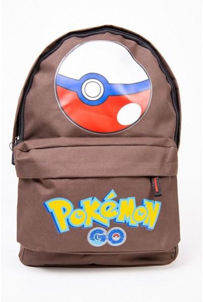Рюкзак Pokemon Go Pokeball Покебол цвет Коричневый 154R003-41-1