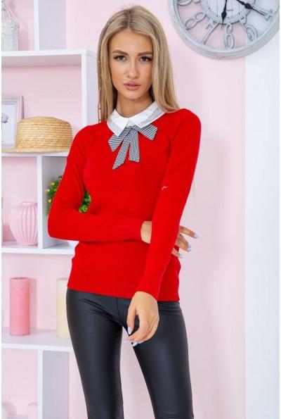 Свитер женский  нарядный  цвет красный 131R116-1 67355