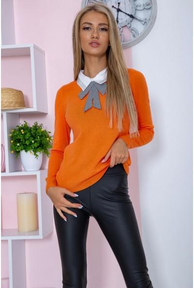Свитер женский  нарядный  цвет оранжевый 131R116-1 67357