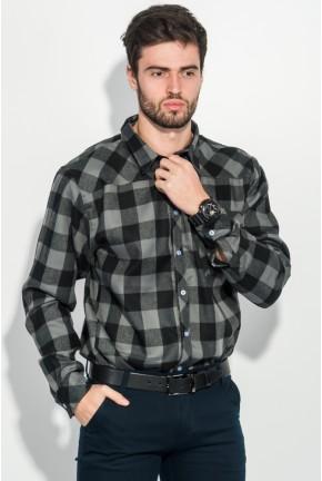 Рубашка мужская повседневаная AG-0007427 Серо-черный