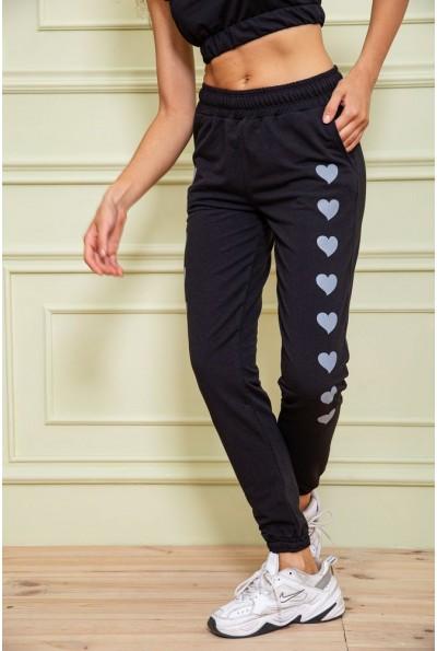 Спорт брюки женские 102R212 цвет Черный 63013