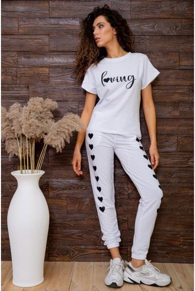 Спорт брюки женские 102R212 цвет Белый 63009