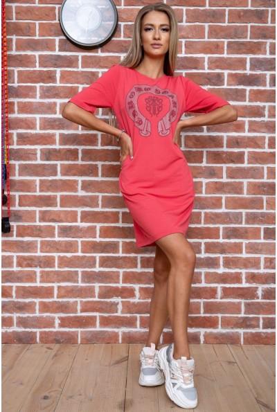 Платье  цвет коралловый 167R007-3 66254