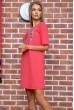 Платье  цвет коралловый 167R007-3 недорого