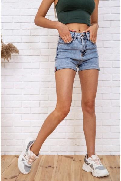 Джинсовые шорты  женские  цвет голубой 129R3799-05 59842