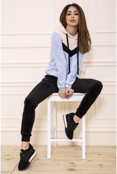 Спорт костюм женский велюровый  119R270 цвет Персиково-голубой