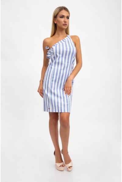 Платье женское, летнее, полосатое, бело-голубое 115R3301 33455