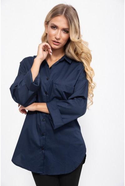 Блуза 115R193-1 цвет Темно-синий