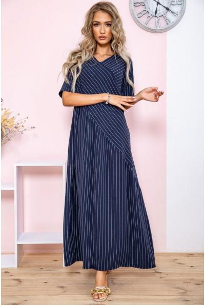 Платье в полоску   цвет темно-синий 150R658 65031