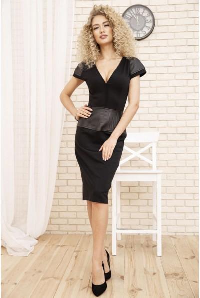 Платье карандаш с короткими рукавами цвет Черный 167R17-1