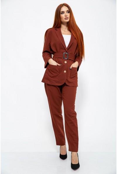 Костюм женский 115R389 цвет Темно-терракотовый