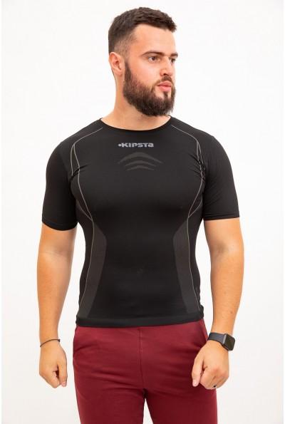 футболка мужская спортивная, черная 117R074