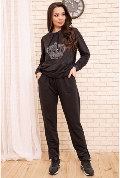Спортивный женский костюм большой размер 50-52-54-56 цвет Черный 104R110 55196