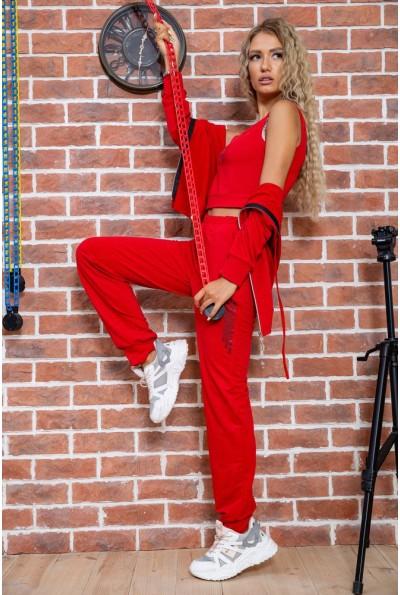 Спортивны костюм тройка женский красный 176R1030 63301