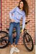 Батник женский  цвет темно-голубой 180R537 недорого