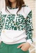 Женский повседневный костюм с капюшоном Бело-зеленый 167R20 акция