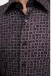 Рубашка мужская серо-коричневый, приталенная 0820-2 скидка