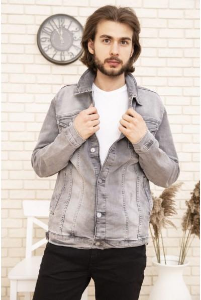 Джинсовая куртка мужская 157RCC01 цвет Серый