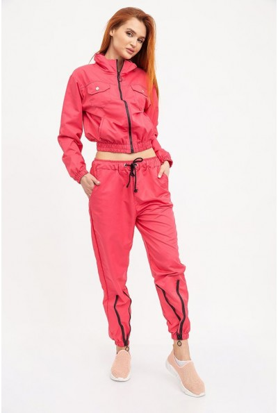 Спортивный костюм женский зауженный на манжетах пастельно-розового цвета  103R017