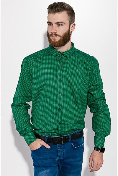 Рубашка черно-зеленая  511F006