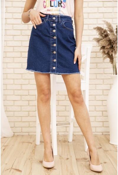 Синяя джинсовая юбка на пуговицах 129R590-22 29489