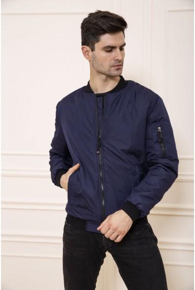 Куртка бомбер мужская с карманами цвет Синий 131R0062-02