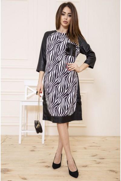 Платье 150R609 цвет Черно-белый 48062