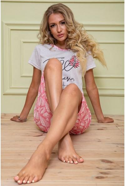 Пижама женская 167R11073 цвет Серо-коралловый 62623